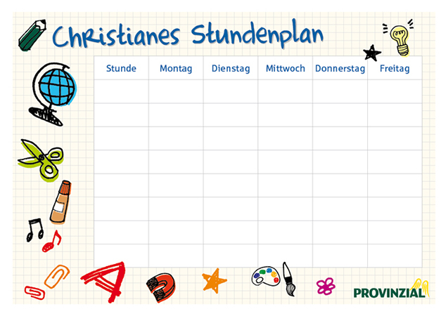 Stundenplan 5: Notizheft